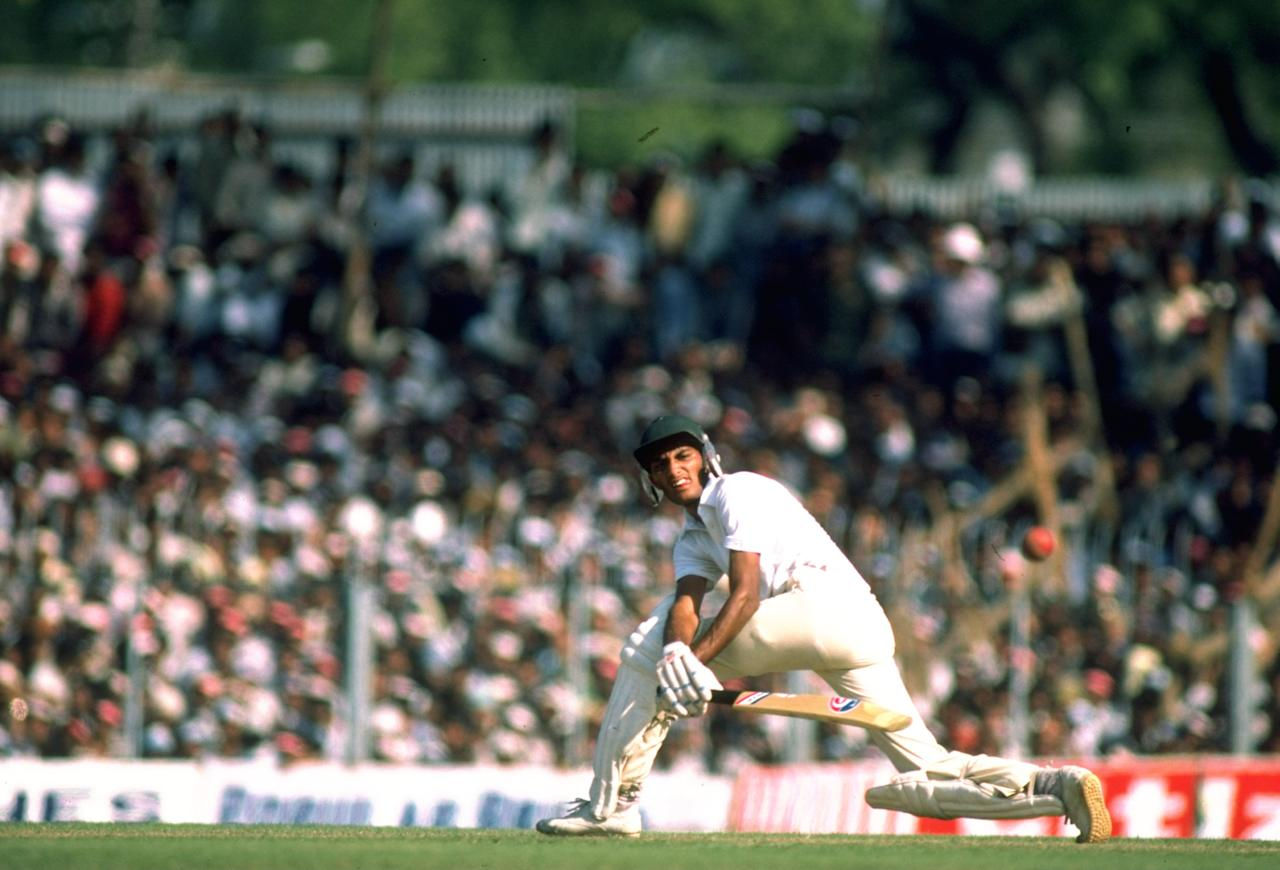 Jan 1985:  Mohammed Azharuddin of India in action during a match. \ Mandatory Credit: Adrian  Murrell/Allsport