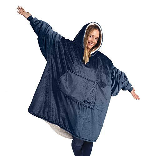 THE COMFY Original | Oversized Microfiber & Sherpa Wearable Blanket, Seen On Shark Tank, One Size Fits All Blue (Amazon / Amazon)