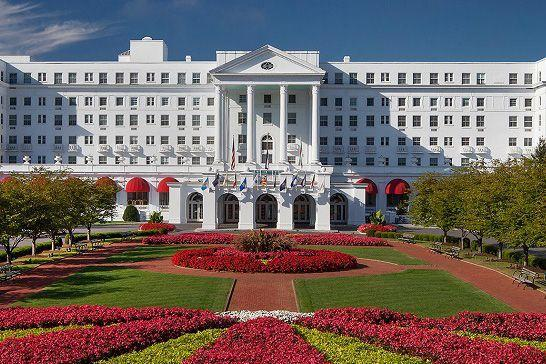 """<p><a href=""""https://www.greenbrier.com/"""" rel=""""nofollow noopener"""" target=""""_blank"""" data-ylk=""""slk:The Greenbrie"""" class=""""link rapid-noclick-resp"""">The Greenbrie</a>r rests royally in the foothills of West Virginia's Allegheny Mountains has served as design inspiration since its opening in 1778, and its design prowess has only grown more iconic since the one-and-only Dorothy Draper took the design to a whole new level in the 1940s. </p><p>This stunning resort has been a favorite of U.S. presidents since America was first founded and continues to host the who's who of politics and elite social circles. The hotel offers a wide range of accommodations, from classic rooms to standalone cottages for all types of vacationers, and boasts a fantastic golf program, spa, 18 dining options, and special holiday experiences. From its renowned Easter and Mother's Day brunches in the spring to elevated traditions come Christmastime, there's always somethings special happening at The Greenbrier.</p>"""