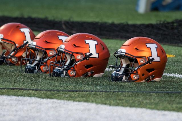 """The NCAA upheld its denial of the hardship waiver for Illinois tight end <a class=""""link rapid-noclick-resp"""" href=""""/ncaaf/players/294772/"""" data-ylk=""""slk:Luke Ford"""">Luke Ford</a>. (AP Photo/Bradley Leeb)"""