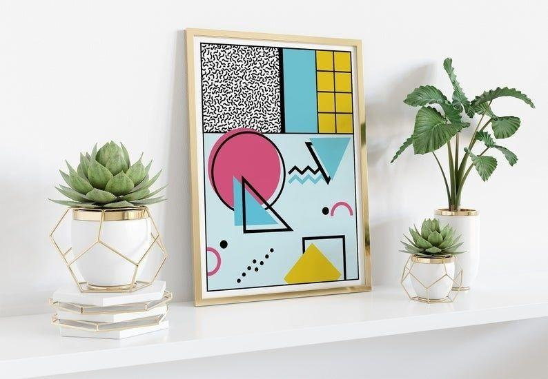 """This print is perfect for bold souls who aren't afraid of eccentric, clashing patterns.<br /><br />BTW — Memphis Pat is a small business owned by, you guessed it, Pat! The shop is filled with bright and fun pieces of wall art and it's based in Barcelona, Spain.<br /><br /><strong>Promising review:</strong>""""The seller kept lines of communication open and I got my print ages before I thought I would. I am very happy."""" —Cassie Kiklis<br /><br /><strong>Get it from<a href=""""https://www.awin1.com/cread.php?awinmid=6220&awinaffid=837483&clickref=HPHomeMagazine-609acebfe4b099ba752f64c2-&ued=https%3A%2F%2Fwww.etsy.com%2Fshop%2FMemphisPat"""" target=""""_blank"""" rel=""""nofollow noopener noreferrer"""" data-skimlinks-tracking=""""5854435"""" data-vars-affiliate=""""AWIN"""" data-vars-campaign=""""SHOPMagazineHomeMower2-2-2021--5854435-"""" data-vars-href=""""https://www.awin1.com/cread.php?awinmid=6220&awinaffid=304459&clickref=SHOPMagazineHomeMower2-2-2021--5854435-&ued=https%3A%2F%2Fwww.etsy.com%2Fshop%2FMemphisPat"""" data-vars-link-id=""""16331338"""" data-vars-price="""""""" data-vars-product-id=""""20945945"""" data-vars-product-img="""""""" data-vars-product-title="""""""" data-vars-retailers=""""etsy"""" data-ml-dynamic=""""true"""" data-ml-dynamic-type=""""sl"""" data-orig-url=""""https://www.awin1.com/cread.php?awinmid=6220&awinaffid=304459&clickref=SHOPMagazineHomeMower2-2-2021--5854435-&ued=https%3A%2F%2Fwww.etsy.com%2Fshop%2FMemphisPat"""" data-ml-id=""""10"""">Memphis Pat</a>on Etsy for<a href=""""https://www.awin1.com/cread.php?awinmid=6220&awinaffid=837483&clickref=HPHomeMagazine-609acebfe4b099ba752f64c2-&ued=https%3A%2F%2Fwww.etsy.com%2Flisting%2F734643038%2Fmemphis-milano-geometric-art-modern"""" target=""""_blank"""" rel=""""nofollow noopener noreferrer"""" data-skimlinks-tracking=""""5854435"""" data-vars-affiliate=""""AWIN"""" data-vars-campaign=""""SHOPMagazineHomeMower2-2-2021--5854435-"""" data-vars-href=""""https://www.awin1.com/cread.php?awinmid=6220&awinaffid=304459&clickref=SHOPMagazineHomeMower2-2-2021--5854435-&ued=https%3A%2F%2Fwww.etsy.com%2Flisting%2F734643038%2Fmemphis-milano"""