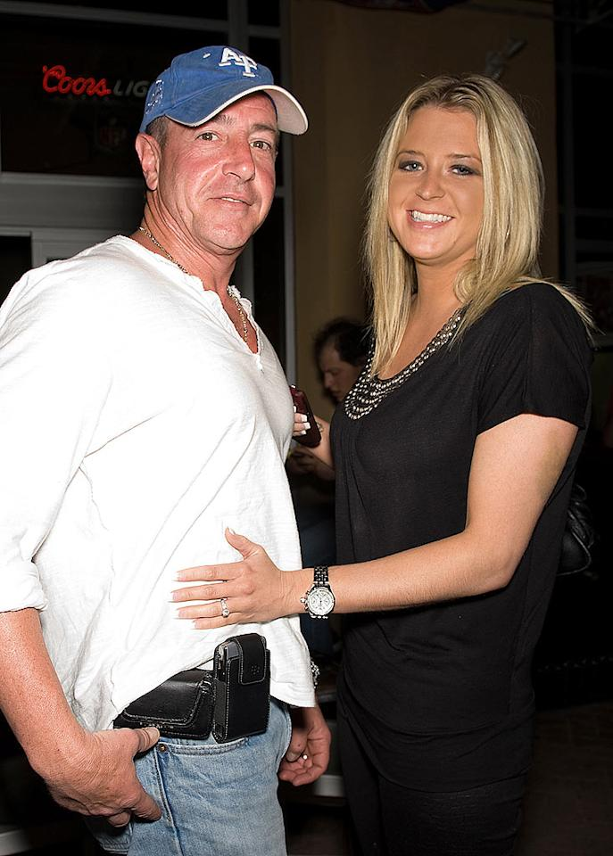 """In one of the most cringeworthy couplings we've ever heard of, Lindsay's dad Michael Lohan announced he'd proposed to Jon Gosselin's ex-girlfriend Kate Major on Tuesday. The gruesome twosome were spotted at South Philly Bar & Grill for the Celebrity Boxing 19 press conference. <a href=""""http://www.splashnewsonline.com"""" target=""""new"""">Splash News</a> - April 7, 2010"""