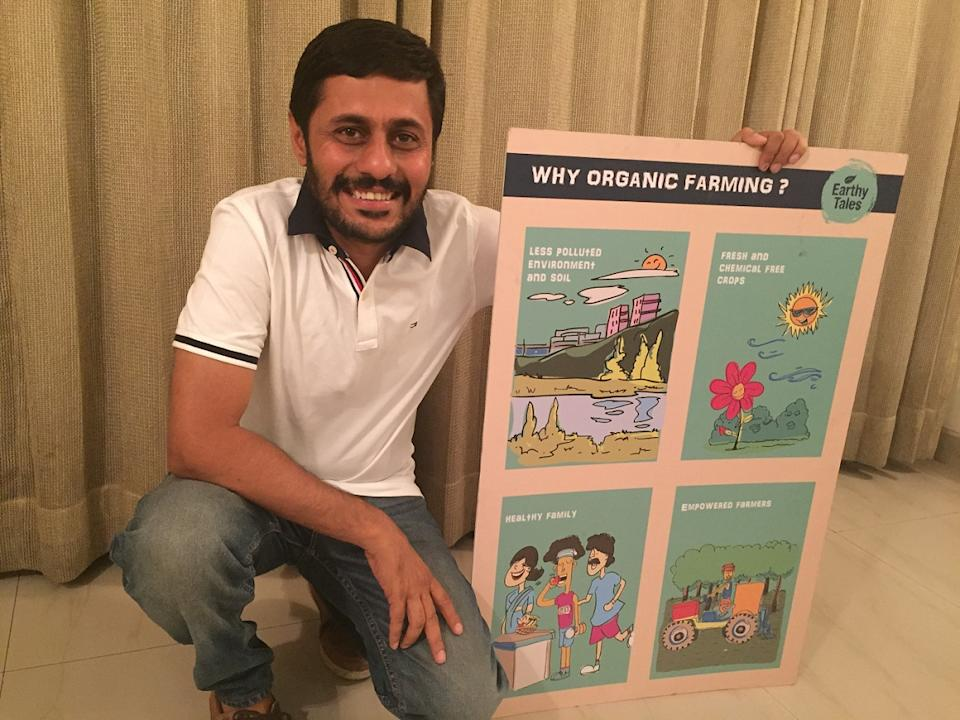 Deepak Sabharwal quit his job with General Electric to take up organic farming