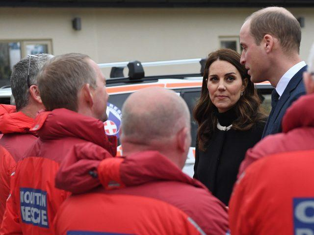 The royal visitors met rescue workers