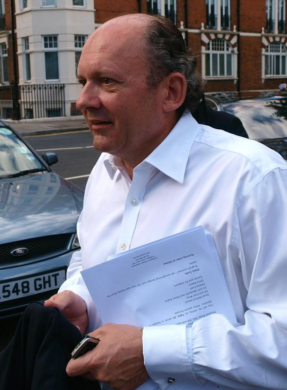 Conservative party fundraiser Michael Spencer arrives at the Tory summer party at The Royal Chelsea Hospital, London.