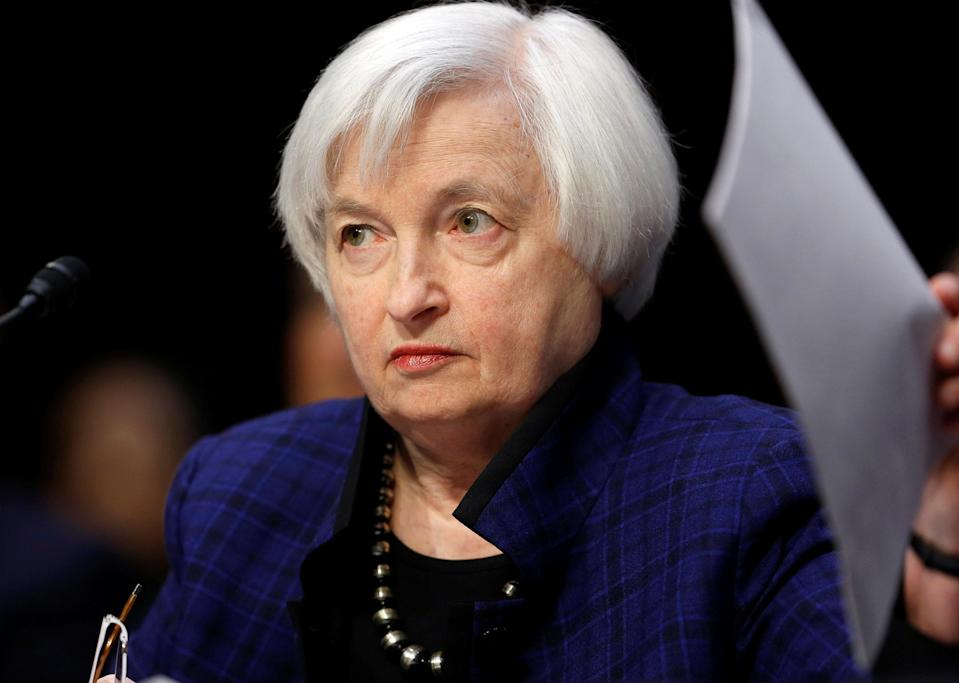Federal Reserve Chair Janet Yellen testifies in front of congress on Nov. 17, 2016. Source: Reuters