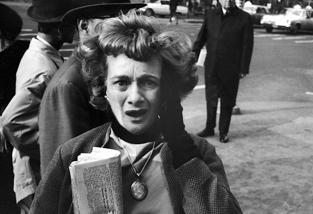 <p>New Yorker reacting in shock to news of assassination of President John F. Kennedy. (Photo: tan Wayman/The LIFE Picture Collection/Getty Images) </p>