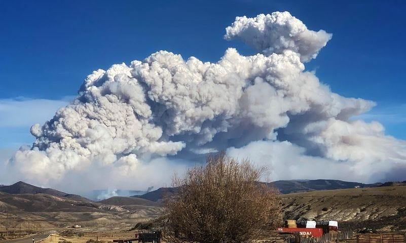 The East Troublesome Fire exploded to 30,000 acres Wednesday.