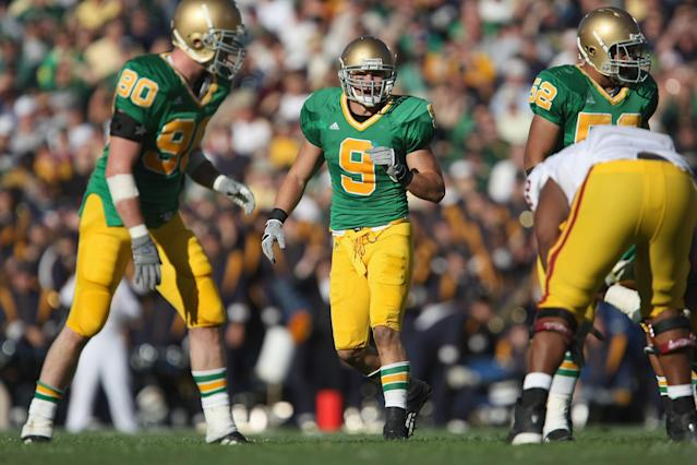 Notre Dame last wore green jerseys at home in a 2007 blowout loss vs. USC. (Getty)