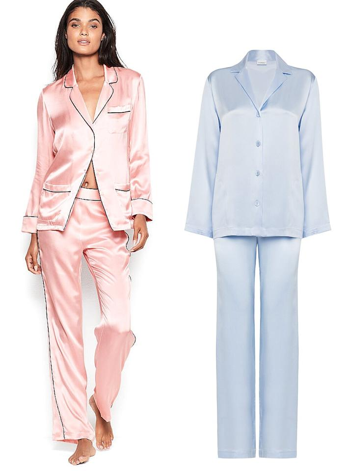 """""""They are so comfortable and something people don't often splurge on for themselves. Depending on the person, I like to have a little fun with it!""""  <strong>Buy It!</strong><a href=""""https://www.victoriassecret.com/vs/sleepwear-and-lingerie-catalog/victoria-s-secret-silk-pj-set-1116080100"""" target=""""_blank"""" rel=""""nofollow"""">Victoria's Secret Silk PJ Set, $198; victoriassecret.com </a>  <a href=""""https://click.linksynergy.com/deeplink?id=93xLBvPhAeE&mid=40932&murl=https%3A%2F%2Forchardmile.com%2Fla-perla%2Fsilk-azure-silk-pyjama-set-lpfa815dc3&u1=PEO%2COliviaCulpoSharesHerValentine%27sDayGiftPicks%3AShopHerMust-Haves%21%2Ckaitlynfrey%2CUnc%2CGal%2C7623313%2C202001%2CI"""" target=""""_blank"""" rel=""""nofollow"""">La Perla Azure Silk Pyjama Set, $438; orchardmile.com</a>"""