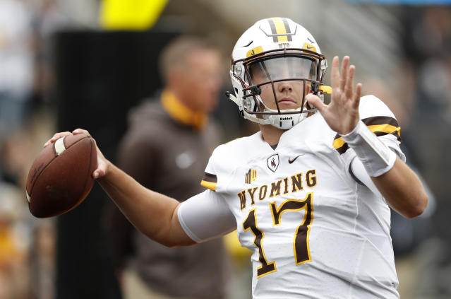 "One scout on Wyoming's Josh Allen: ""When he had a chance to do it versus high-level competition, he didn't do it. But his ceiling is still pretty high. I like him."" (AP)"