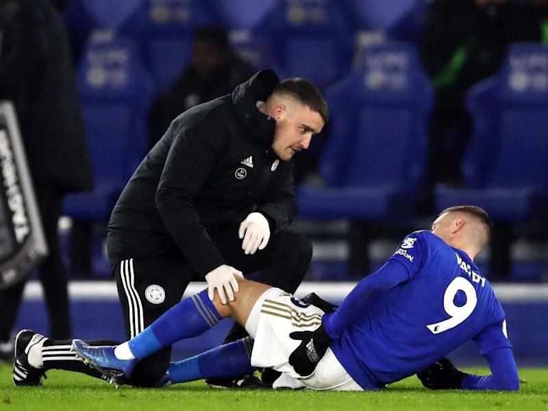 Jamie Vardy receives treatment before being substituted: PA