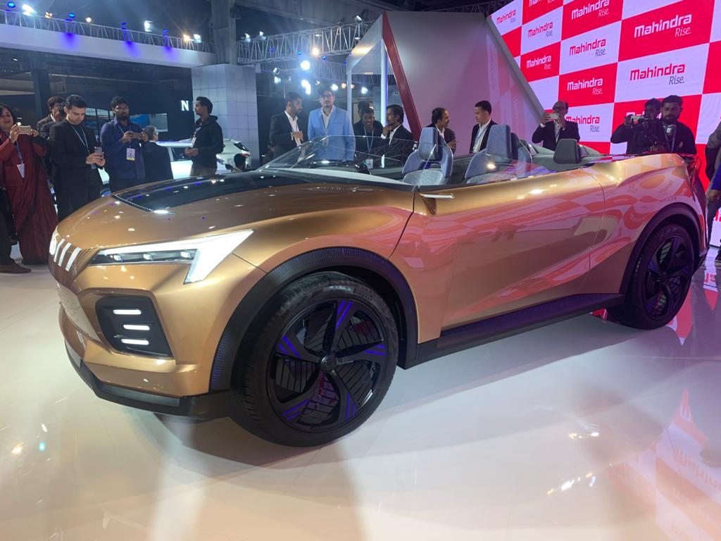 The Funster is an SUV concept: a hard-top convertible that showcases the new design language for Mahindra.