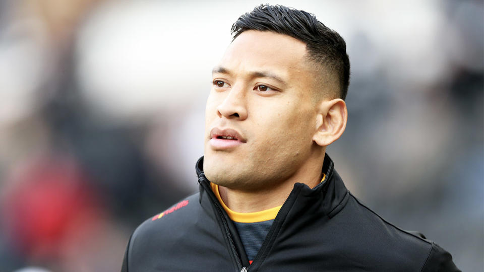 Reports suggest the West Tigers had interest in signing former Wallabies and NRL star Israel Folau for the competition restarted. (Getty Images)