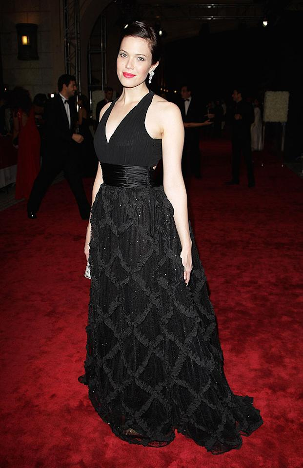 """Sometimes hit or miss on the red carpet, Mandy Moore came up with a winner at the 6th Annual Dubai International Film Festival in her glam Escada ballgown. The opulent city won the actress over -- """"This is my time in Dubai and it's beautiful,"""" said Moore. Gareth Cattermole/<a href=""""http://www.gettyimages.com/"""" target=""""new"""">GettyImages.com</a> - December 9, 2009"""