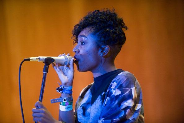 """Drea Smith of the Pyyramids perform at The Grammy Museum's """"Musical Milestones: 50 Years of The Beatles"""" showcase during SXSW at Bethel Hall at St. David's Church on March 15, 2013 in Austin, Texas."""