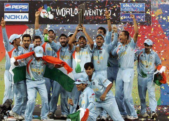 Indian team with the T20 World Cup