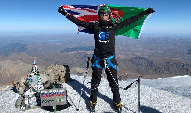 Mountaineer scales Europe's highest peak with UK record - days after COVID recovery