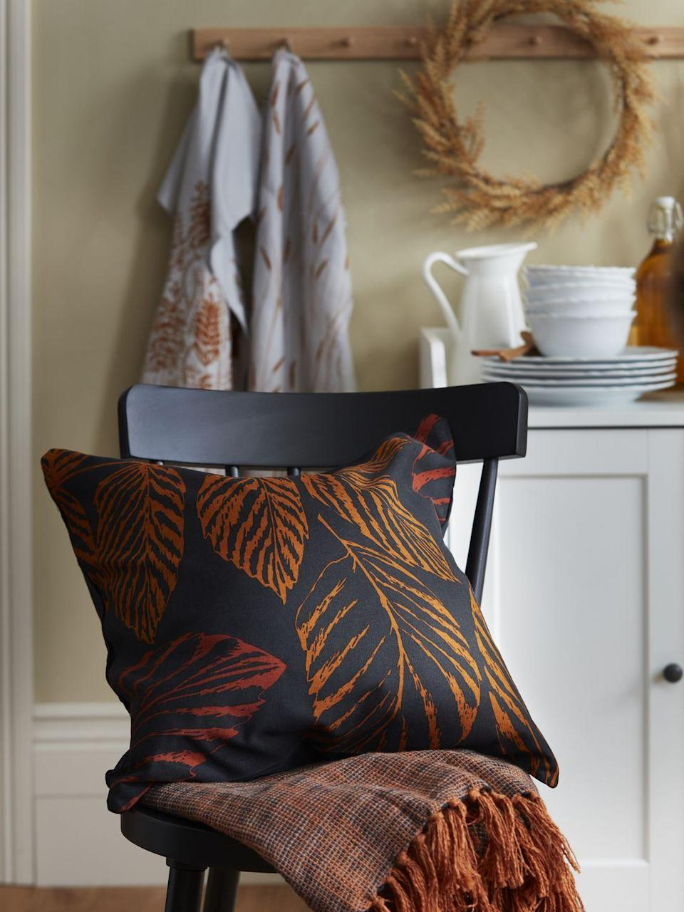 """<p>As part of the Global Influences transition trend, you'll discover cushion covers and cosy blankets in a host of autumnal hues. Cold days at <a href=""""https://www.countryliving.com/uk/homes-interiors/property/a37439178/home-mistakes-burglaries/"""" rel=""""nofollow noopener"""" target=""""_blank"""" data-ylk=""""slk:home"""" class=""""link rapid-noclick-resp"""">home</a> just got an upgrade...</p>"""