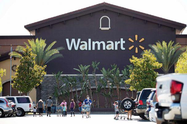 PHOTO: Shoppers wearing face masks are pictured in the parking of a Walmart Superstore during the outbreak of the coronavirus disease in Rosemead, Calif., June 11, 2020. (Mario Anzuoni/Reuters)