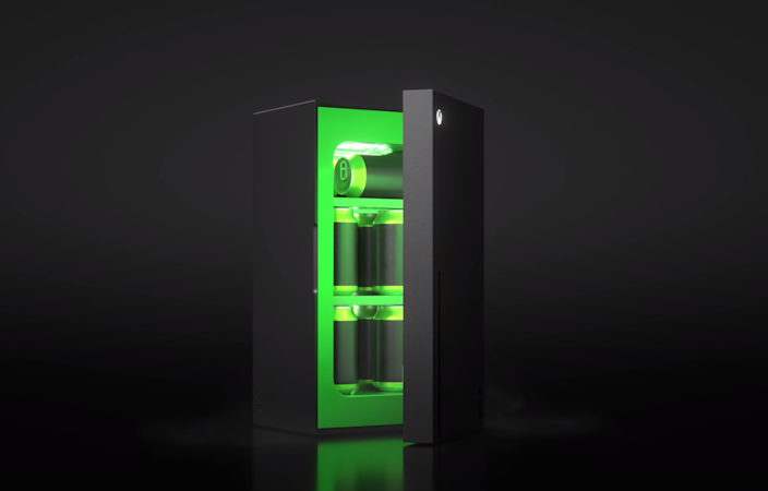 A screenshot of the Xbox Mini-Fridge, available this holiday.