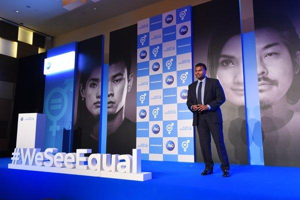 Magesvaran Suranjan, President, P&G Asia Pacific and Indian Subcontinent, Middle East and Africa, making his opening remarks at the P&G APAC #WeSeeEqual Summit 2019.