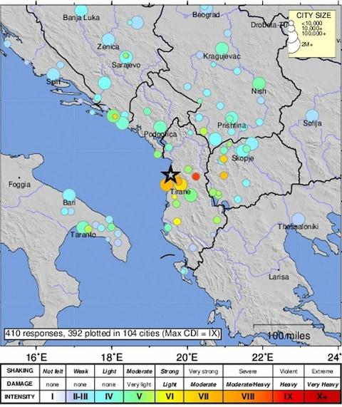 <span>The USGS confirmed the quake off the coast of Albania</span>