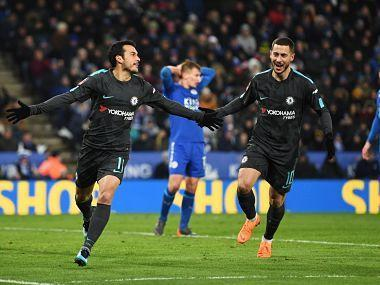 Alvaro Morata's first goal since Boxing Day on his return to the Chelsea starting line-up put the visitors on course to bounce back from their Champions League elimination at the hands of Barcelona.