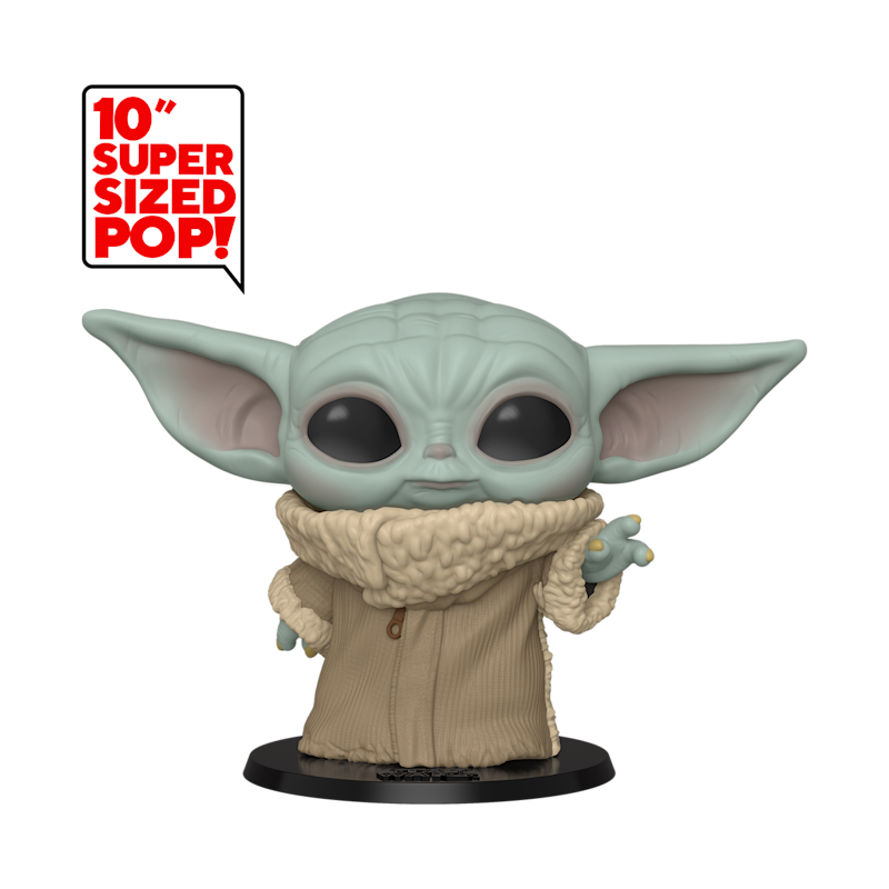 "Funko's 10"" super-sized collectible Baby Yoda figure (Photo: Funko)"