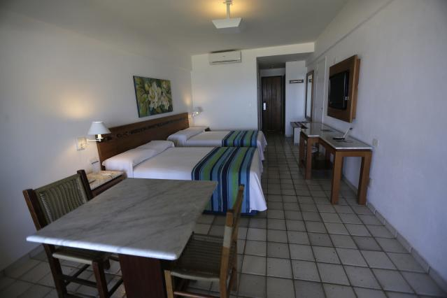 A view of a room in the Portobello Resort, where the Italy soccer team will be based during the 2014 World Cup, in Mangaratiba, March 11, 2014. REUTERS/Ricardo Moraes (BRAZIL - Tags: SPORT SOCCER WORLD CUP SOCIETY)