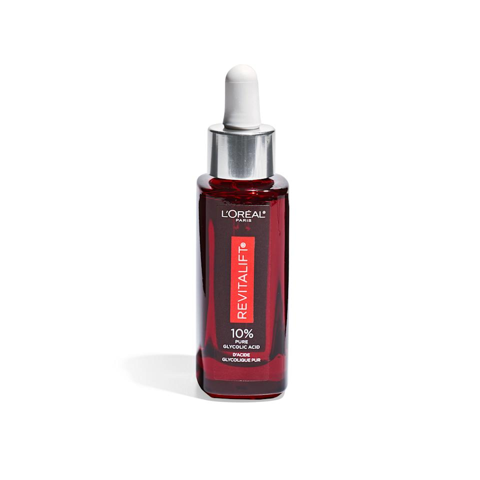 """<p>""""Mama Cook and I always had our simple skin-care regimen in common. A good face wash and a no-fuss antiaging routine are key.""""</p> <p><strong>Buy It: </strong>L'Oréal Paris Revitalift Derm Intensives 10% Pure Glycolic Acid Serum, $24; <a href=""""https://www.amazon.com/LOreal-Paris-Revitalift-Intensives-Corrector/dp/B07TVMFM5C/ref=as_li_ss_tl?ie=UTF8&linkCode=ll1&tag=slbeuaualicecookbeautyicon1119-20&linkId=93191513d3adae81c3f9e41c55e68b2b&language=en_US"""">amazon.com</a></p>"""