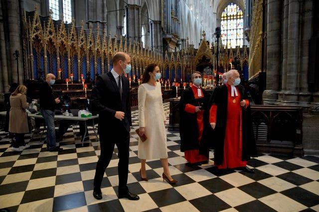 The Duke and Duchess of Cambridge at Westminster Abbey