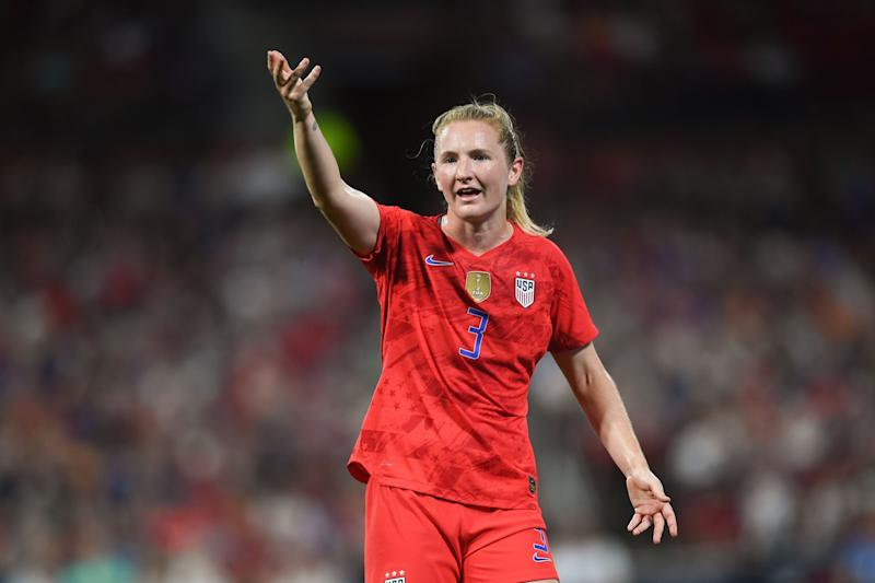 ST. LOUIS, MO - MAY 16: Samantha Mewis #3 of the United States during an international friendly between the women's national teams of the United States and New Zealand on May 16, 2019 at Busch Stadium in St. Louis, Missouri. (Photo by Brad Smith/isiphotos/Getty Images)