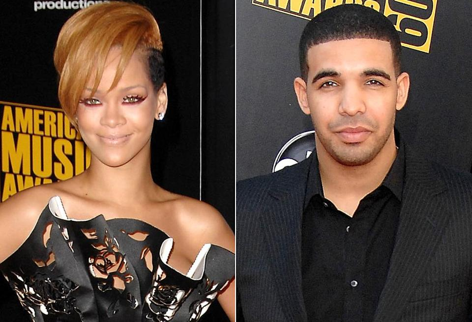 "<p>A few months later, Rihanna firmly put Drake in the friend zone. During an <a href=""https://www.youtube.com/watch?%20v=or-spKZWKiw"" rel=""nofollow noopener"" target=""_blank"" data-ylk=""slk:interview with radio station Hot 97,"" class=""link rapid-noclick-resp"">interview with radio station Hot 97,</a> the singer said she and Drake were just friends. ""We weren't really sure what it was,"" she said. ""We just went out ? my friends, his friends."" She (brutally) added, ""I don't even have his number ? I need somebody that's hot … and older."" Ouch. (Photos: WireImage/FilmMagic) </p>"