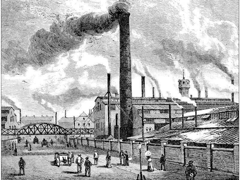 Essen steel works in Germany in the 19th Century. Iron and steel production, which depended on coal, were both at the heart of the industrial revolution: Getty