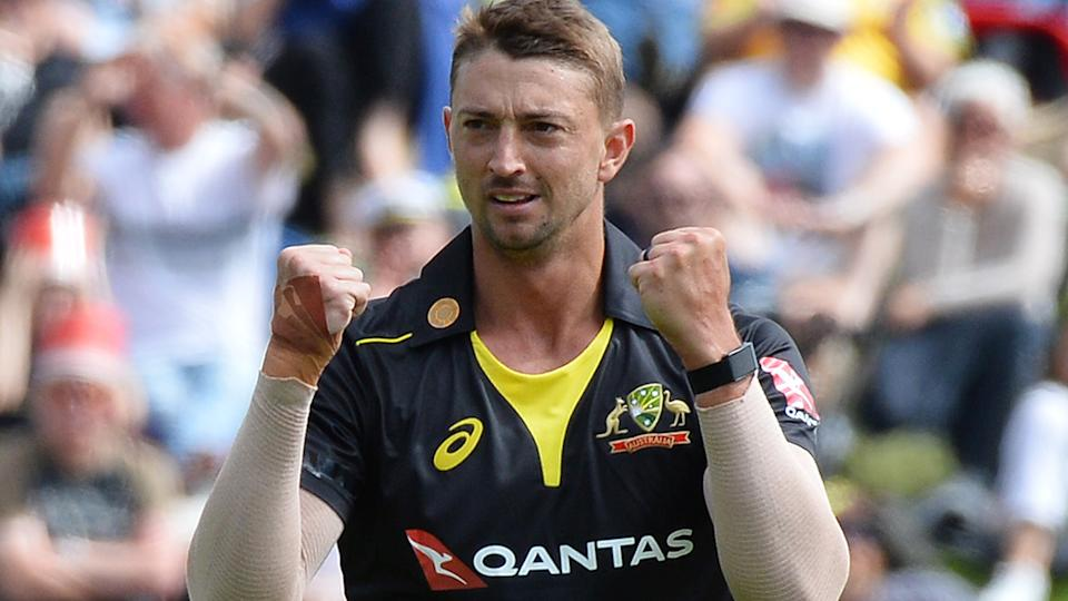 Daniel Sams has reportedly tested positive for the coronavirus after arriving in India for the upcoming IPL season. Picture: Getty Images                                                                                                                                (Photo by Sanka Vidanagama/NurPhoto via Getty Images)