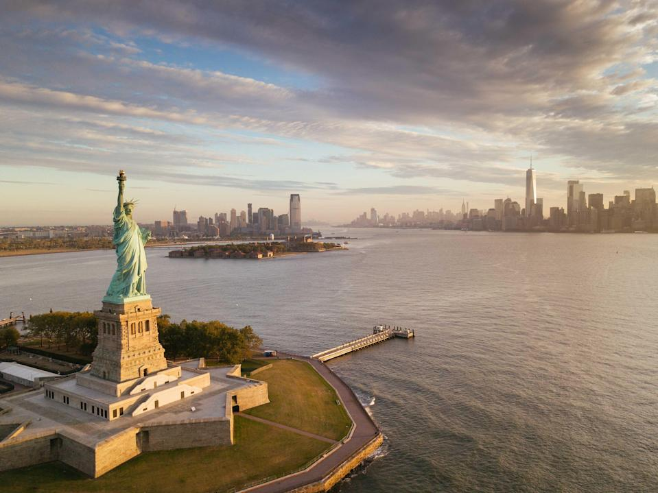 """<p><strong>Tell me: What's this place all about?</strong><br> The United States' most celebrated monument, the Statue of Liberty was gifted by the French as a sign of goodwill and friendship in honor of the U.S. centennial of independence. The Statue was unveiled on a reportedly wet and foggy day in 1886 in front of one million New Yorkers; last year, a record 4.4 million tourists visited Liberty Island, the 14-acre swath of land one mile south of lower Manhattan upon which the Statue rests. While there is no fee to visit Liberty Island, you do have to pay for a round-trip ferry ride via Statue Cruises. The ferry also stops on <a href=""""https://www.cntraveler.com/activities/ellis-island?mbid=synd_yahoo_rss"""" rel=""""nofollow noopener"""" target=""""_blank"""" data-ylk=""""slk:Ellis Island"""" class=""""link rapid-noclick-resp"""">Ellis Island</a>, part of the national park, and is famous for processing more than 12 million immigrant steamship passengers through its federal immigration station from 1892 to 1954. The island now houses the Ellis Island National Museum of Immigration, where visitors can search digital images of ship manifests for the immigration records of their relatives.</p> <p><strong>What's it like being there?</strong><br> Historical awe.</p> <p><strong>Is there a guide involved?</strong><br> Ranger-guided tours of Liberty Island are available most days (weather and staff-level permitting). Audio tours of the island's grounds and the Statue of Liberty Museum are available every day. The Ellis Island National Museum of Immigration offers free ranger-guided and audio tours that are laden with historical facts and personal histories. If you plan to visit the Statue's pedestal or crown, plan ahead: There are a limited number of tickets available each day and they sell out weeks, if not months, in advance. Before you book, know that there's no elevator access from the top of the pedestal to the crown; you'll have to climb 162 steps on a confined spiral staircase for those panora"""