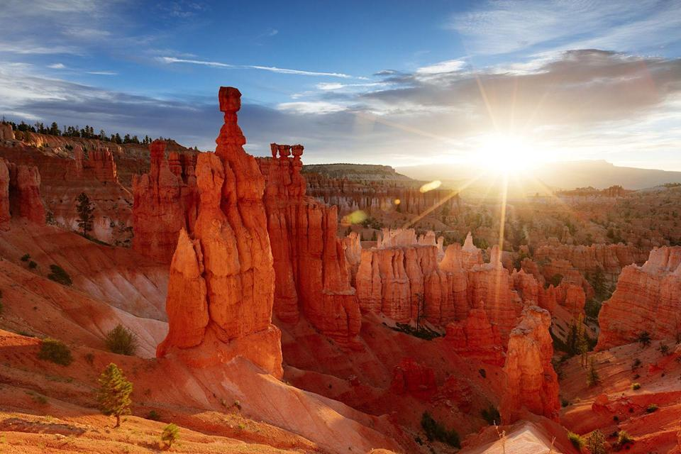 "<p>It might look like Mars, but it's just Utah. <a href=""https://www.tripadvisor.com/Attraction_Review-g143015-d1925256-Reviews-Bryce_Canyon_National_Park-Bryce_Canyon_National_Park_Utah.html"" rel=""nofollow noopener"" target=""_blank"" data-ylk=""slk:Bryce Canyon National Park"" class=""link rapid-noclick-resp"">Bryce Canyon National Park</a> features crimson-colored spire-shaped rock formations that together create the vast Bryce Amphitheater. </p>"