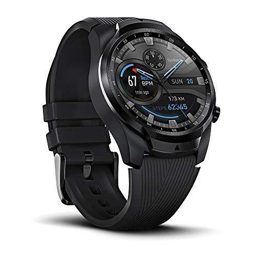 """<p><strong>Ticwatch</strong></p><p>amazon.com</p><p><strong>$291.95</strong></p><p><a href=""""https://www.amazon.com/dp/B07RKQBHC9?tag=syn-yahoo-20&ascsubtag=%5Bartid%7C2139.g.33482000%5Bsrc%7Cyahoo-us"""" rel=""""nofollow noopener"""" target=""""_blank"""" data-ylk=""""slk:BUY IT HERE"""" class=""""link rapid-noclick-resp"""">BUY IT HERE</a></p><p>The second generation of the Mobvoi TicWatch Pro, the TicWatch Pro 4G/LTE features smartphone-free connectivity. Not in the same area as your smartphone? No problem. Send or receive voice calls or SMS messages and seamlessly receive app notifications from your smartphone—all without being tied to Bluetooth or Wi-Fi. Wear it and forget about charging. The TicWatch Pro 4G/LTE allows you to switch from 'smart mode' to a power saving mode that extends the battery life from two days to up to 30 days. </p>"""