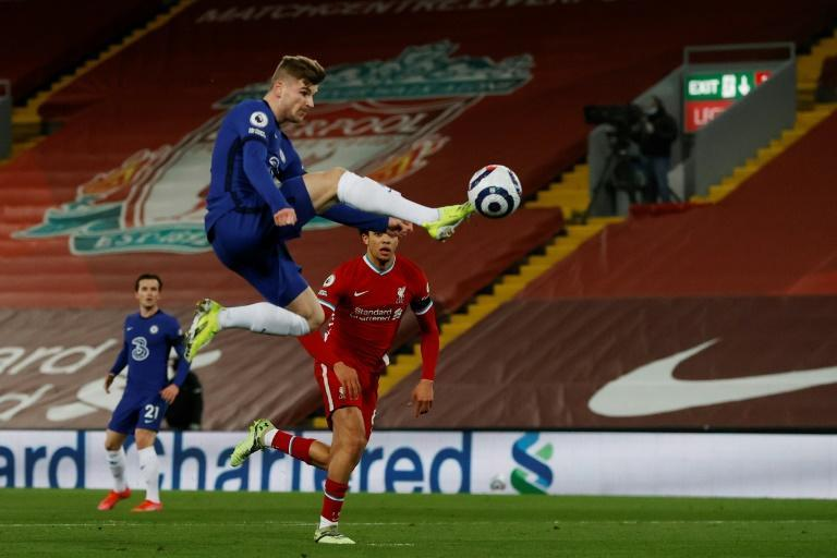 Werner's wait goes on: Timo Werner's Premier League goal drought was continued by a controversial VAR call