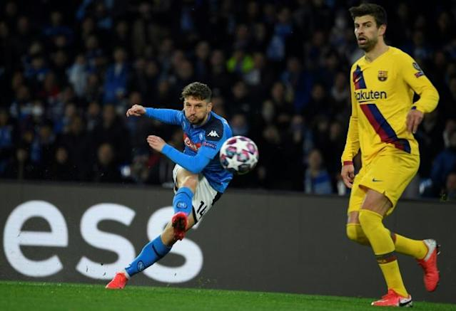 Barcelona's last 16 second leg match against Napoli becomes the third Champions League match to be ordered behind closed doors (AFP Photo/Filippo MONTEFORTE)
