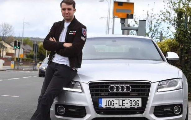 Thomas Davies with his specially adapted Audi A5 S5 with a 4.2 litre engine