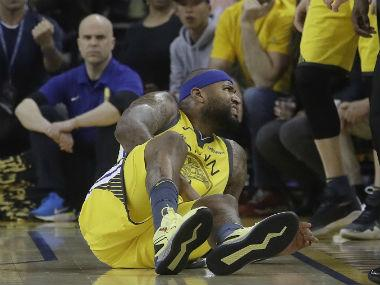 NBA Playoffs 2019: Warriors centre DeMarcus Cousins faces indefinite layoff after injuring quadriceps muscle