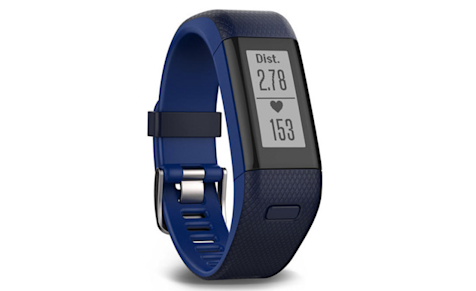 Garmin's Vivofit HR+ is waterproof and has GPS.