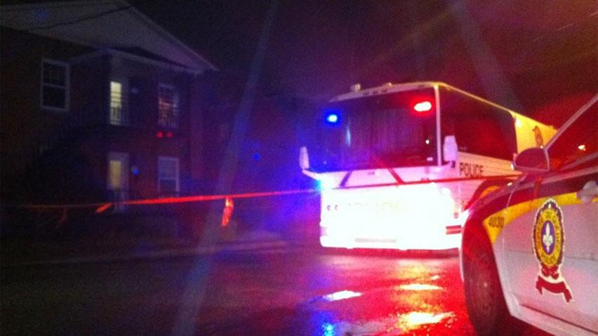 Police cordoned off a home in Drummondville, Que., on Sunday evening as part of their investigation into the deaths of two young girls and their brother.