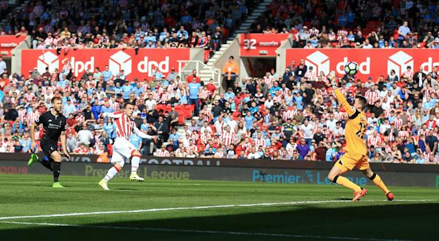<p>Xhaqiri has a goal ruled out for Stoke</p>
