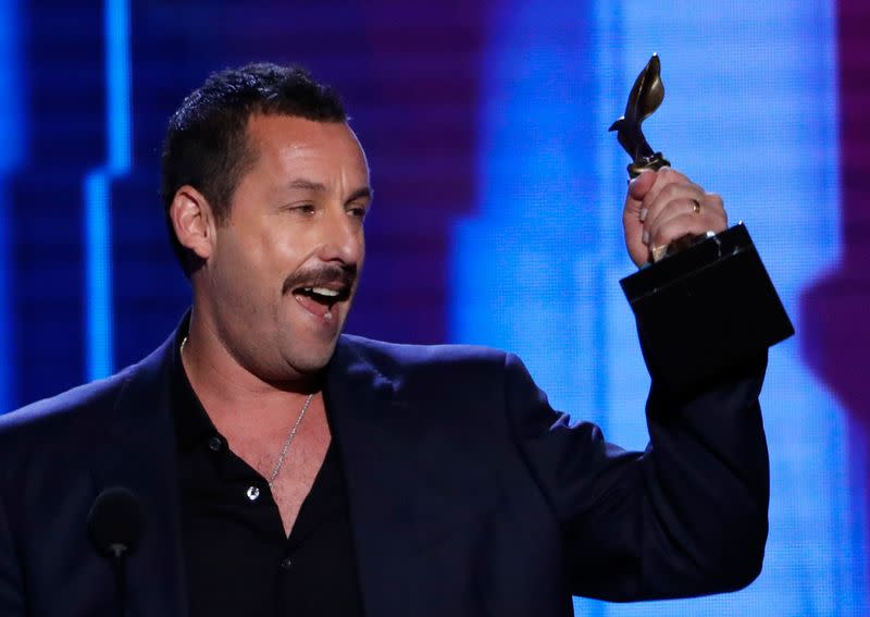 Adam Sandler laughs off Oscar snub as he wins indie acting prize