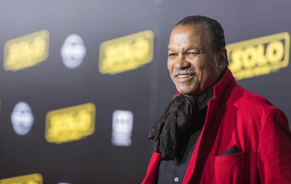 Billy Dee Williams arrives at 'Solo: A Star Wars Story' film premiere on Thursday, May 10, 2018, in Los Angeles. (Photo by Colin Young-Wolff/Invision for Nissan North America/AP Images)