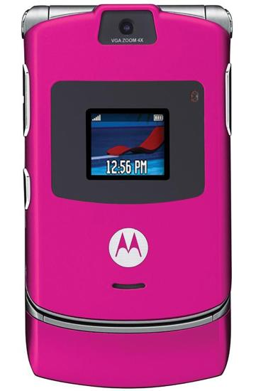 The hot-pink Motorola RAZR became a fashionable accessory in 2005.