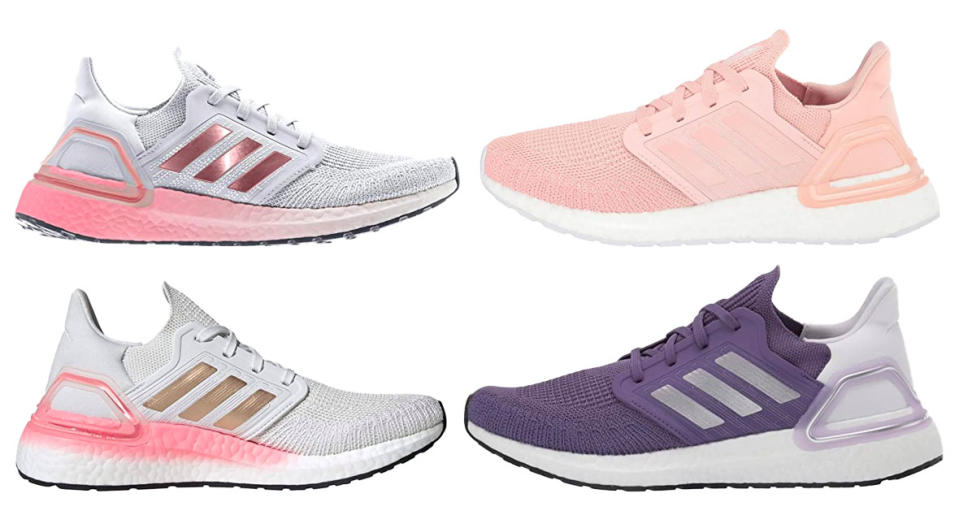 Adidas Running Ultraboost 20 running shoes are up to $60 off. (Photo: Zappos)
